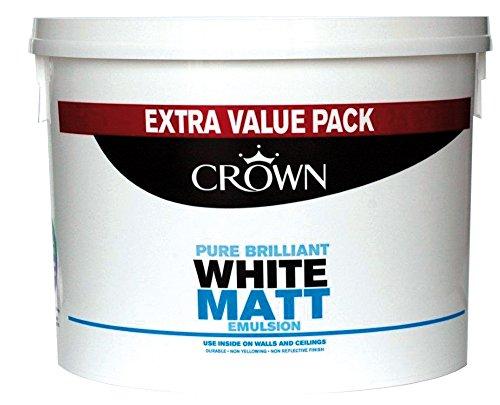 Crown Matt Emulsion Paint 7.5L Pure Brilliant White