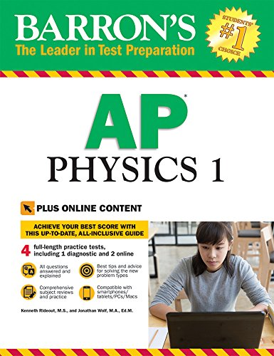 Barron's AP Physics 1: with Bonus Online Tests (Barron's AP Physics 1 and 2) cover
