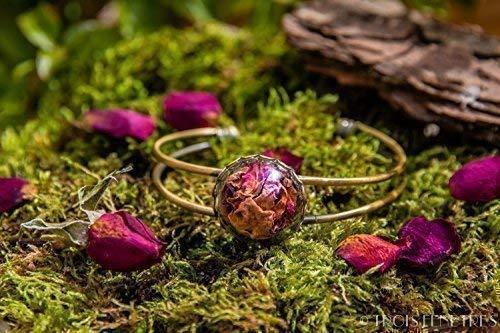 Brazalete Pétalos de Rosa - Pulsera de flores secas ...