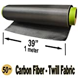 50 Ft -Carbon Fiber Fabric-Twill WEAVE-3K/220g x 1 Meter