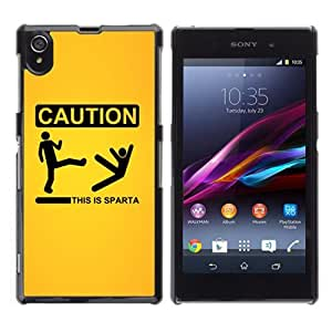 YOYOSHOP [Funny This Is Sparta] Sony Xperia Z1 L39h Case