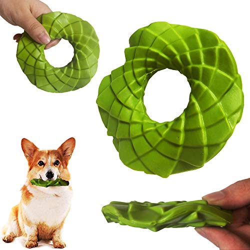 SSSFENG Durable Dog Chew Toys Dog Flying Disc Toy Rubber Dog Bite Resistant Outdoor Training Pet Fetch Toy Tough…