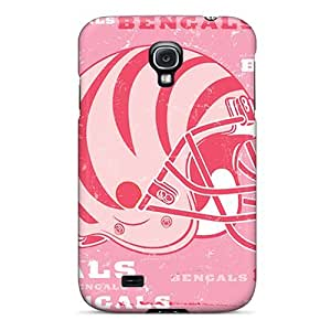 Shock Absorbent Hard Cell-phone Case For Samsung Galaxy S4 With Provide Private Custom Colorful Cincinnati Bengals Skin IanJoeyPatricia