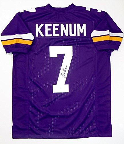 Case Keenum Autographed Purple Pro Style Jersey - JSA W Auth B