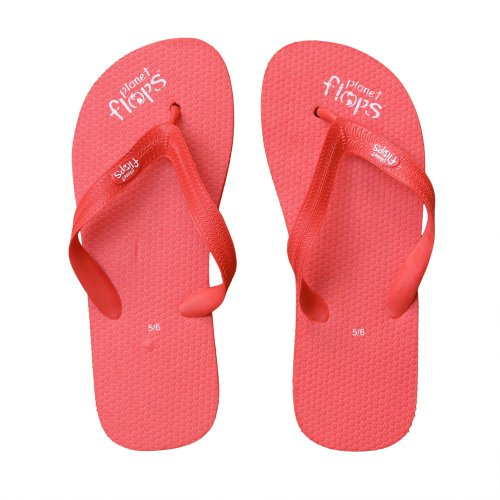 Planet Flops Cherry (Red) Flip-Flops: Incredibly Comfortable, Eco-Chic, Brazilian, Natural Rubber Flip-Flops. 5/6 by Planet Flops