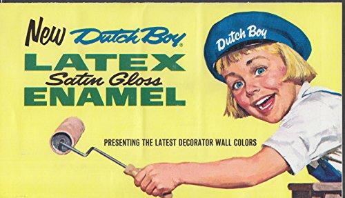 Dutch Boy Latex Satin Gloss Enamel Paint Color Chip Chart 1967 At