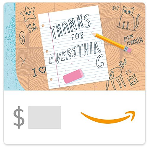 Amazon eGift Card - Thank You Teacher (Desk)