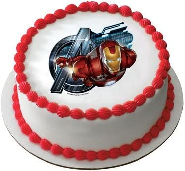 Incredible Amazon Com Marvels Super Hero Ironman Personalized Edible Cake Funny Birthday Cards Online Inifodamsfinfo