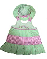 Bonnie Baby Baby-girls Tiered Sundress with Sun Hat