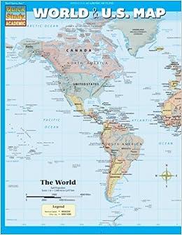 World US Map Inc BarCharts Amazoncom Books - Amazon us map