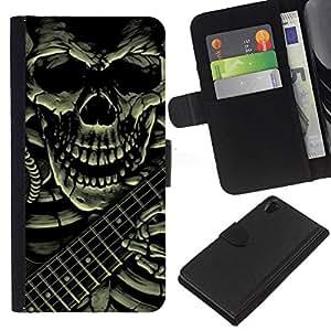 iBinBang / Flip Funda de Cuero Case Cover - Guitar Rock Death Metal Heavy - Sony Xperia Z2 D6502 D6503 D6543 L50t