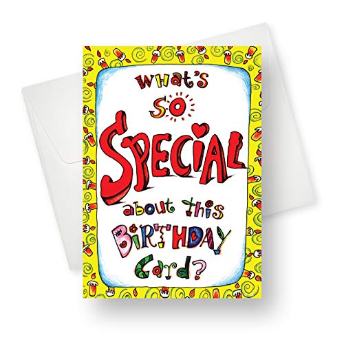 [12 Pack] Northern Cards - Special (Birthday) Premium Quality Greeting Card with Unique Vibrant Design - 5.5
