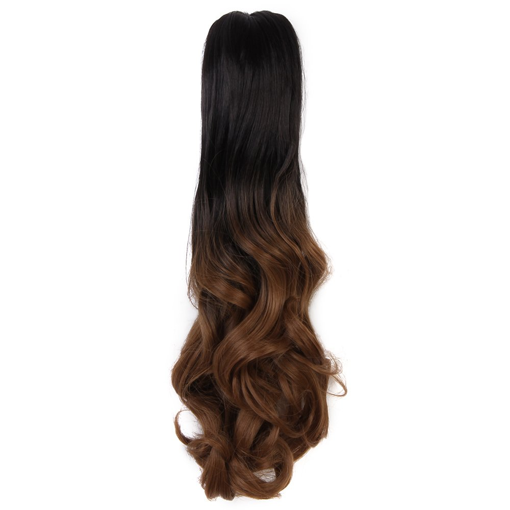 Synthetic Extensions Ombre 5 Clips In Hair Extensions Synthetic Remy Clip In Extensions 22 Kanekalon Straight Hairpieces Synthetic Hair 6 Colors Big Clearance Sale
