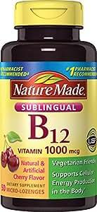 Nature Made Vitamin B-12 1000 MCG Sublingual Supplement, 50 Count