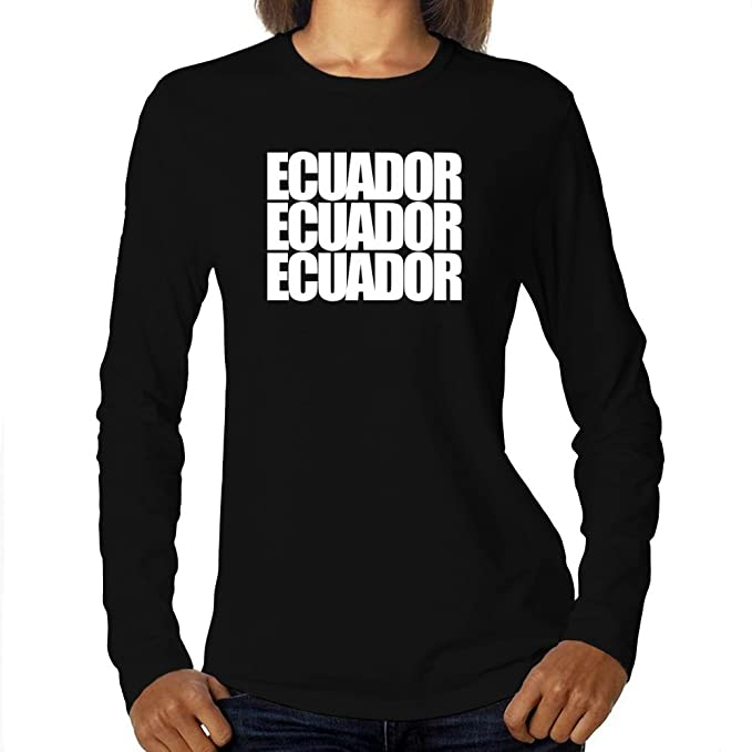 Eddany Ecuador Three Words Camiseta Manga Larga Mujer