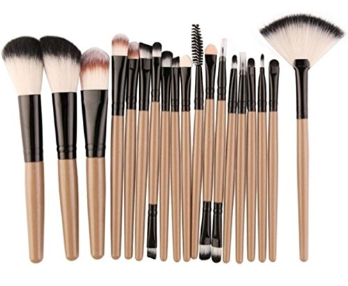 18 Piece Makeup Brushes Set Eye Shadow Eyeliner Cosmetic Make Up Tool Professional Natural Beauty Palette Eyeshadow Stylish Popular Eyes Faced Colorful Rainbow Hair Highlights Glitter Kit, Type-07]()