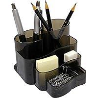 Porta Lápis/Clips/Papel Conjunto Triplo Injetado Fume 3005H Dello