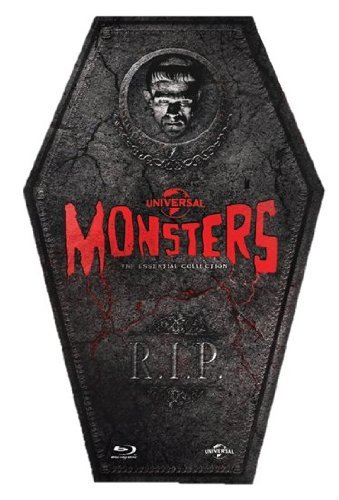 Universal Monsters: The Essential Collection (Limited Edition Coffin Box Set) (Region free Blu-ray) (Coffin Monsters Universal)