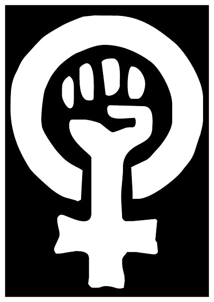 Amazon Sticker Decal Feminist Feminism Woman Logo Symbol