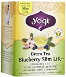 Yogi Tea Green Tea Blueberry Slim Life, Herbal Supplement, Tea Bags, 16 ct