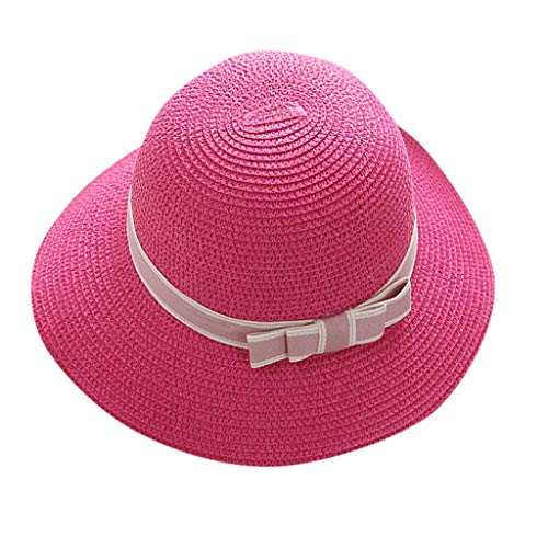 Outique Women's Sun Hat in UV Beach Golf Cap Tennis Bicycle Fishing Removable Top Cover Open Wide Visor Travel Bucket Hot Pink