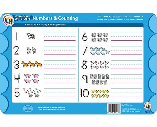 (Numbers & Counting Wipe Off Activity Mat)