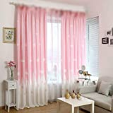 WINYY Cartoon Castle Window Curtain for Kid Bedroom Living Room Cloud Pattern Canvas Curtain Drape for Girl Room Grommet Top Home Decor 1 Panel W75 x H96 inch