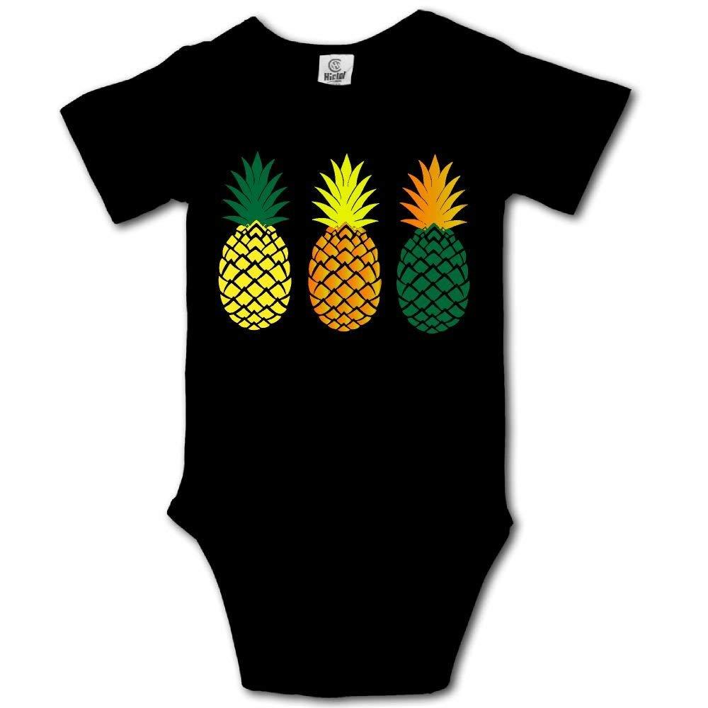 HFJFJSZ Three Pineapples Short Sleeve Baby Bodysuit Onesies