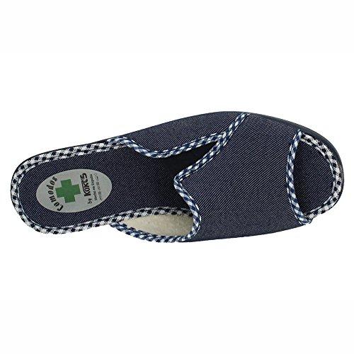 KOKIS 3808, Damen Hausschuhe Marineblau
