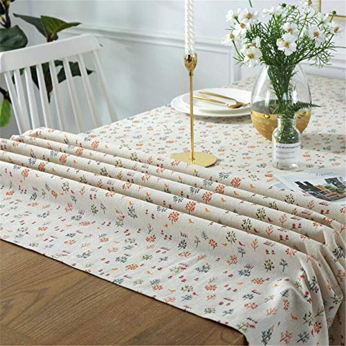 ZSDGY Cotton and Linen Small Fresh Household Coffee Table Tablecloth/White Pine Branch Rectangular - Pine Trestle