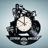 Captain America Ciwil War Vinyl Wall Clock Marvel Superhero Unique Gifts Living Room Home Decor