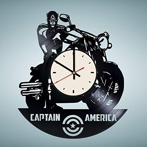 Captain America Civil War Vinyl Wall Clock