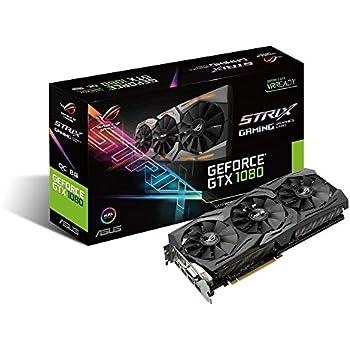 ASUS GeForce GTX 1080 8GB ROG Strix Graphics Card (STRIX-GTX1080-8G-GAMING) (Certified Refurbished)