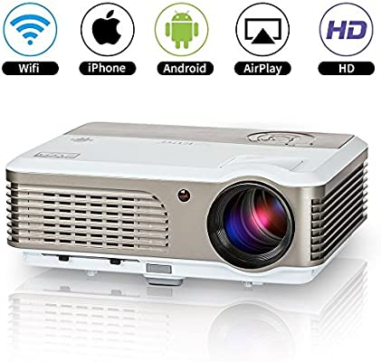 Proyector Inteligente HD WiFi Airplay Zoom Techo Trasero ...