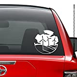 wind turbine window decal - Wind Turbine Engery Eco Green Friendly Vinyl Decal Sticker Car Truck Vehicle Bumper Window Wall Decor Helmet Motorcycle And More - (Size 5 inch/13 cm Wide)/(Color Gloss White)