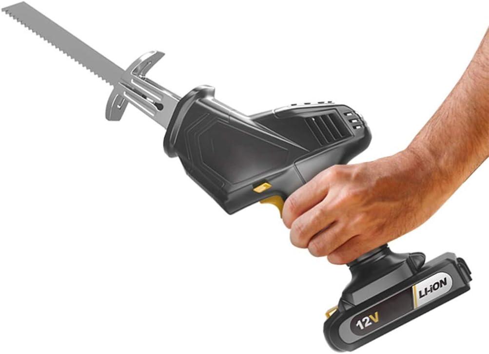 Sierra recíproca de iones de litio sin cable, cambio de herramienta sin herramientas, con caja de herramientas de cargador rápido: Amazon.es: Bricolaje y herramientas