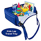 Snack & Play Lap Tray For Kids. Great for Playing, Eating, Reading & Drawing on the go. Mesh Storage Pockets for Organizing Toys. For Cars Back Seats, Flights, Baby Strollers, Booster Chairs, Trains