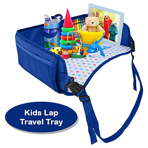 OZZIKO Snack N Play Kids Travel Tray. Car Back Seat Lap Desk for Road Trip Activities. Car Back Seats, Booster Seat, Baby Strollers, Flights, Train Rides. Recommended for Boys and Girls, Ages 2-7.