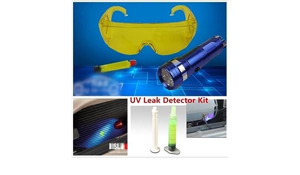 Amazon.com: Leoie UV Leak Detector A/C Fluid Gas Detection Kit with LED Flash Light Safety Glasses Repair Tool: Automotive