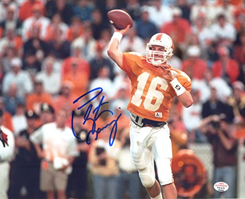 Peyton Manning Tennessee Volunteers Vols Signed Autographed 8