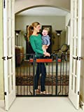 Regalo Home Accents Extra Tall and Wide Walk Thru Baby Gate, Includes Décor Hardwood, 4-Inch Extension Kit, 4-Inch Extension Kit, 4 Pack of Pressure Mount Kit and 4 Pack of Wall Mount Kit
