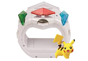 Pokemon Z Ring Toy - Nintendo 3DS compatible with Lights and Sounds with 3  pack of crystals