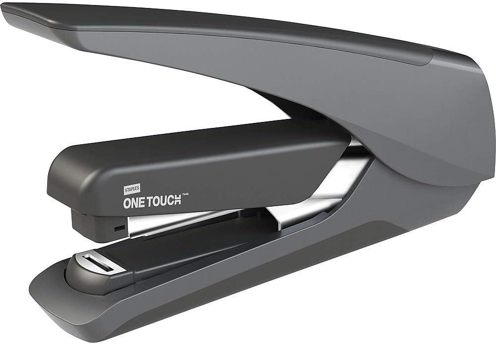 Staples 207435 One-Touch Plus Desktop Stapler Full-Strip Capacity Black Chrome
