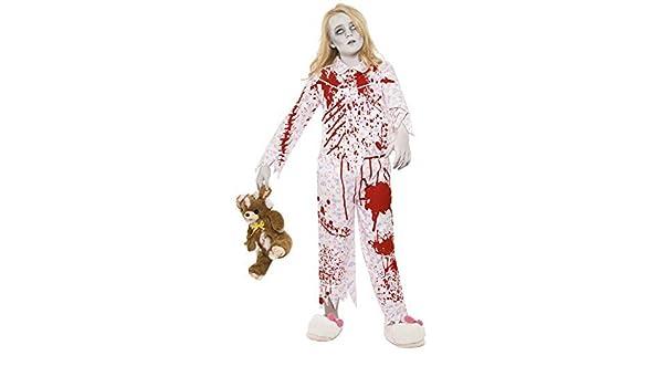 Chicas Adolescentes Muerto Sangriento Zombie rosa osito Pijamas Estampados miedo fantasmal Disfraz de Halloween 7-14 AÑOS - Rosa, 7-9 years: Amazon.es: ...