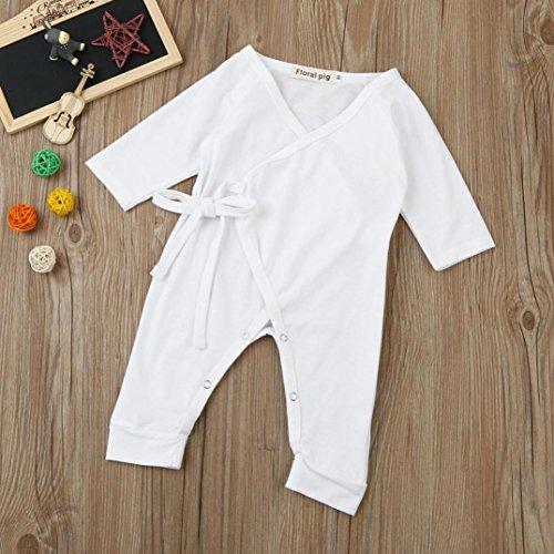 cabff87ce901 Kehen Newborn Unisex Baby Girl Boy Angel Wings Romper Cotton One Peice Long  Sleeve Bodysuit Pajamas