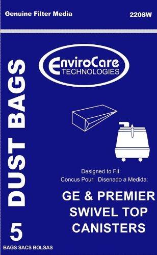 GE & Premier Swivel Top Canister Vacuum Bags