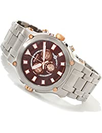 Calibre Robusta Swiss Chronograph SS Brown Dial Rose Gold Accents
