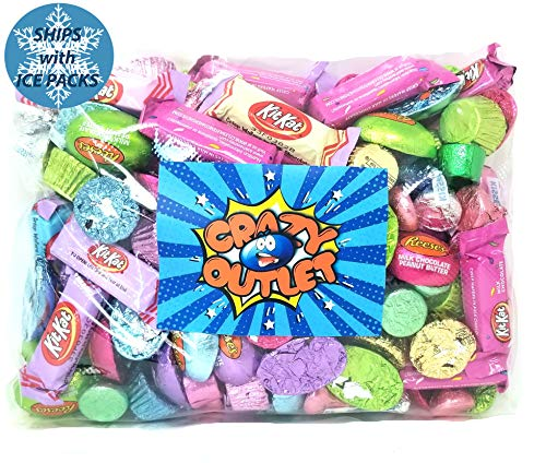Easter Spring Chocolate Candy Mix - Kit Kat, Kisses Pastel Colors, Reese's Eggs, Rolo Caramel - Easter Basket Candy, 3 lbs