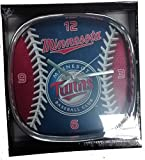 MLB Minnesota Twins Chrome Team Clock