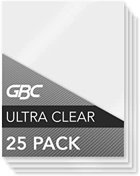 Letter Size 3 Mil 3200577 Swingline GBC UltraClear Thermal Laminating Pouches 25 Pack